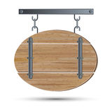 Retro style wooden board Royalty Free Stock Image