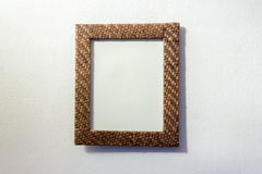 Retro style wooden picture frames Stock Images