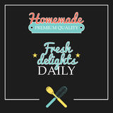 Retro styled bakery stickers. Homemade bakery and cooking labels Stock Image