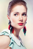 Retro styled beauty Stock Photo