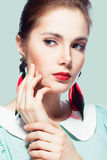 Retro styled beauty Royalty Free Stock Images