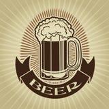 Retro Styled Beer Mug Seal / Mark Royalty Free Stock Photo