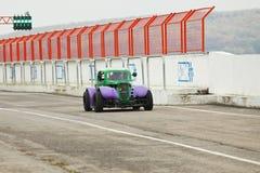Retro styled car Stock Photo