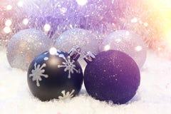 Retro styled Christmas background Stock Photo