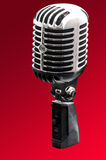 Retro styled chrome microphone Stock Photography
