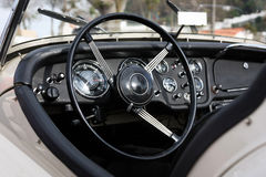 Retro styled classic car dashboard Royalty Free Stock Photos