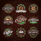 Retro Styled Coffee Emblems Stock Photo
