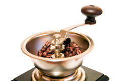 Retro-styled coffee grinder royalty free stock images