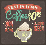 Retro styled coffee poster Stock Image