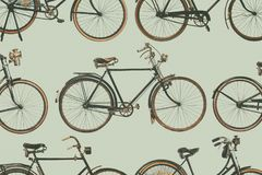 Collection of vintage rusted bicycles. Retro styled collection of vintage rusted bicycles Stock Image