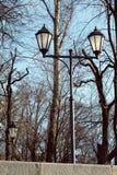 Retro styled decorative lanterns park Stock Photography
