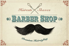 Retro styled design concept for a barber shop Royalty Free Stock Photography
