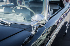 Retro styled detail of the side of a vintage car Stock Photos