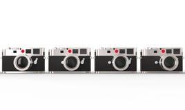 Retro styled digital photo cameras Royalty Free Stock Photos