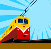 Retro styled electric train Royalty Free Stock Photos