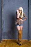 Retro styled fashion model Stock Photos