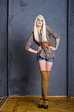Retro styled fashion model Royalty Free Stock Photography