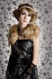 Retro styled fashion woman portrait Stock Images