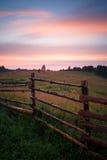 Retro styled fence Stock Image