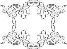 Retro-styled frame. Vector Stock Image