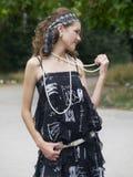 Retro styled girl Royalty Free Stock Photo