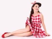 Retro-styled girl Stock Photography
