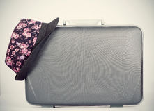 Retro styled hat and baggage Stock Image