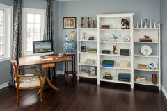 Retro styled home office in a new home. Royalty Free Stock Photo