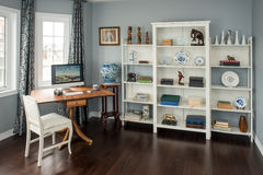 Retro styled home office in a new home. Stock Image