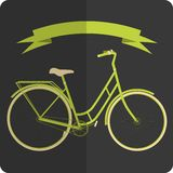 Retro styled image green and beige bicycle Stock Photo