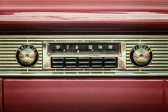 Retro Styled Image Of An Old Car Radio Royalty Free Stock Photos