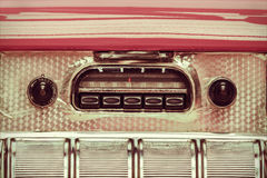 Retro styled image of an old car radio Stock Photos