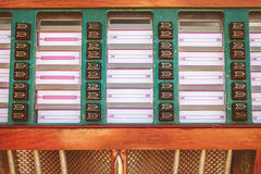 Retro styled image of an old jukebox Royalty Free Stock Photo