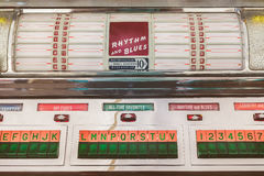 Retro styled image of an old jukebox Stock Image