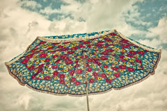 Retro styled image of an old parasol Royalty Free Stock Image