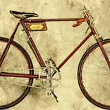 Retro styled image of an old racing bicycle Royalty Free Stock Photo
