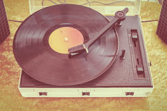 Retro styled image of an old record player Stock Image