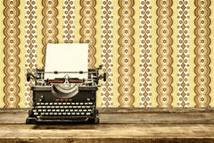 Retro styled image of an old typewriter Royalty Free Stock Photos