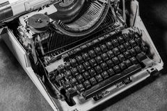 Retro styled image of an old typewriter Stock Photos