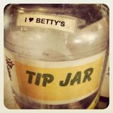 Tip Jar. Retro-styled image of tip jar at country cafe Royalty Free Stock Images