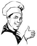 Smiling chef stock illustration