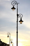 Retro-styled lamppost on the street Stock Photo