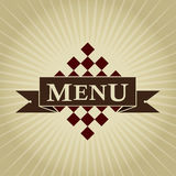 Retro Styled MENU Design Stock Image