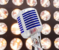 Retro styled microphone Royalty Free Stock Photos