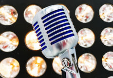Retro styled microphone Royalty Free Stock Images