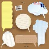 Retro styled paper vector speech bubbles tenplate. Stock Photos