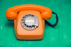 Retro styled phone Royalty Free Stock Photography