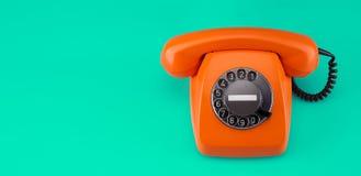 Retro styled phone Royalty Free Stock Photos