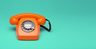 Retro styled phone. Top view of an old phone Royalty Free Stock Photography