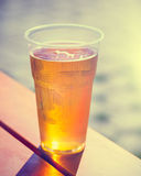 Retro styled photo of beer cup Royalty Free Stock Image